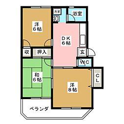 寺崎ハイツ[2階]の間取り