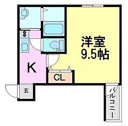 フジパレス西立花6番館[3階]の間取り