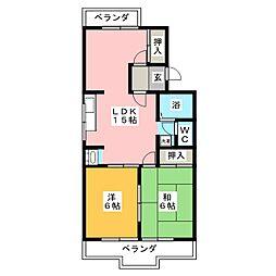 メゾンドアサミ[1階]の間取り