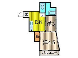 本田マンション 1号棟[301号室]の間取り