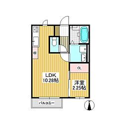 Reflet(ルフレ) A棟[1階]の間取り