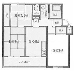 相武台団地1702[1階]の間取り