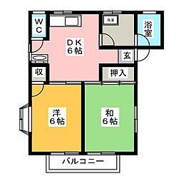 YANAOKAコーポ[2階]の間取り
