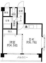 神奈川県横浜市青葉区青葉台2丁目の賃貸アパートの間取り