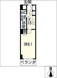 スクエア名駅南[7階]の間取り