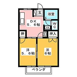 ニューシティ幸伸[2階]の間取り