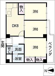 ダイアパレス神宮苑402号室[4階]の間取り