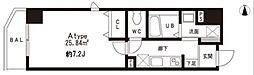 都営浅草線 大門駅 徒歩10分の賃貸マンション 3階1Kの間取り