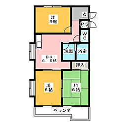 カサ松下[4階]の間取り