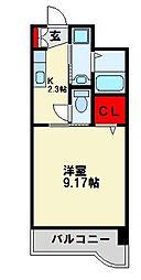 セレスタイト黒崎[9階]の間取り