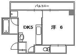 モンレーブ浜口[3階]の間取り