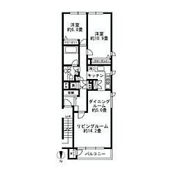 ラナイグランデ[3階]の間取り