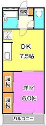 東京都練馬区向山1丁目の賃貸アパートの間取り