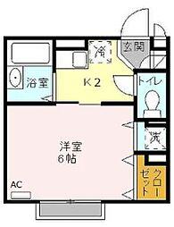 ボナールA・F[2階]の間取り