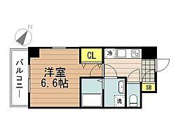JR京浜東北・根岸線 さいたま新都心駅 徒歩5分の賃貸マンション 5階1Kの間取り