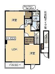 (新築)フィデールユーII[2階]の間取り