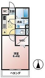 養老鉄道 北大垣駅 徒歩17分の賃貸アパート 1階1Kの間取り