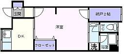 大阪府高石市取石1丁目の賃貸アパートの間取り