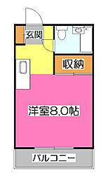 メゾンドカザマ[2階]の間取り