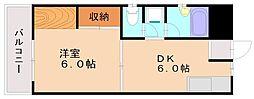 酒井ハイツ[3階]の間取り