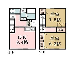[テラスハウス] 埼玉県草加市谷塚上町 の賃貸【/】の間取り