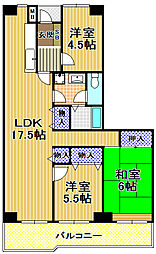 高見フローラルタウン七番街14号棟[10階]の間取り