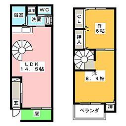 コンプメゾン 5[2階]の間取り