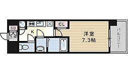 レジュールアッシュ福島CUEZ[6階]の間取り
