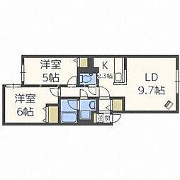 北海道札幌市東区北二十七条東13丁目の賃貸アパートの間取り