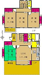 [一戸建] 東京都町田市南つくし野1丁目 の賃貸【東京都 / 町田市】の間取り