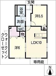ベルウッド壱番館 A[1階]の間取り