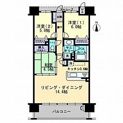 アルファステイツ倉敷鶴形[11階]の間取り