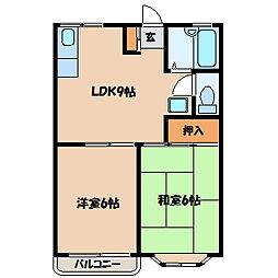 メゾンKEI[1階]の間取り