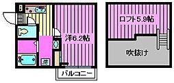 埼玉県さいたま市北区日進町2丁目の賃貸アパートの間取り