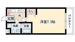 愛知県名古屋市名東区社台3の賃貸マンションの間取り