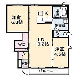 クレセオ A棟[1階]の間取り