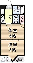 プランドール勧修寺[402号室号室]の間取り