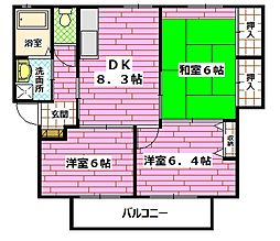 [テラスハウス] 広島県広島市安佐南区祇園4丁目 の賃貸【/】の間取り