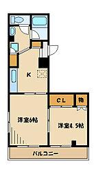 YFC南台[3階]の間取り