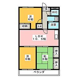 ソーシャルOmoriII[3階]の間取り