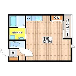 (仮称)巽中4丁目新築アパート[1階]の間取り