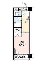 東洋プラザ泉尾[10階]の間取り