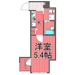 バージュアル横濱鶴見II[8階]の間取り