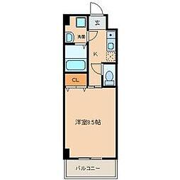 サン笠取[402号室]の間取り