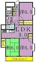 千葉県柏市中央2丁目の賃貸マンションの間取り