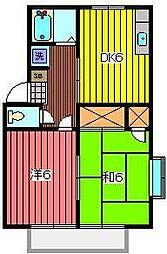 ヒマワリハイツII[2階]の間取り