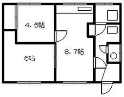 豊岡13−3 2戸貸家[zzz号室]の間取り