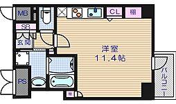 ルーセントオーデン難波[11階]の間取り
