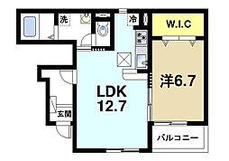 JR桜井線 桜井駅 徒歩19分の賃貸アパート 1階1LDKの間取り