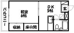サンロード中野[506号室]の間取り